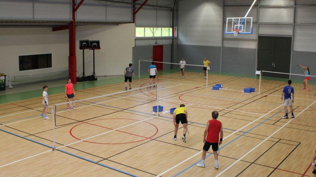 Salle d'entraînement du club SAS Badminton - Gymnase de la Pierre Grise - Sanilhac - Dordogne Périgueux